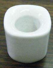 "1, 2, 4, 6, or 10 White Ceramic Candle Holders for 4"" Mini Taper Chime Candles"