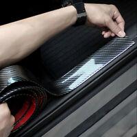 Car Carbon Fiber Rubber Door Sill Protector Edge Guard Strip Sticker DIY 3CM*1M