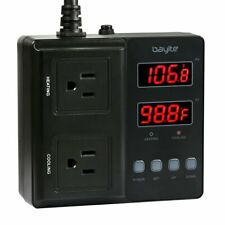 bayite Temperature Controller 1650W BTC211 Digital Outlet Thermostat Pre-wire...