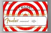 Fender Stratocaster Floyd Rose Waterslide Decal (Orange Logo)