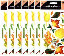 7 New Packs Scrapbook Stickers Sticko Vellum Fall Autumn Oak Leaves