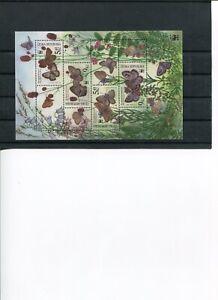 2002 WWF CZECH REPLUBLIC Large Blue Butterflies S/S MNH POST FREE
