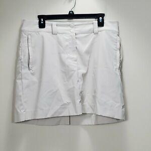 Nike Golf Dri fit Tan womens sz 10 M skirt skort  zip pockets activewear
