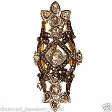Artdeco Estate 3.04cts Real Rose Antique Cut Diamond Jewelry Silver Wedding Ring