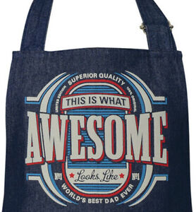 Mens Awesome Denim BBQ Apron | One Size Fits Most