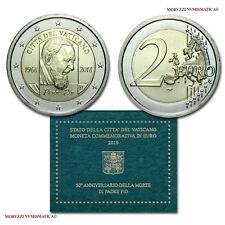 MORUZZI - Vaticano 2 EURO COMMEMORATIVO 2018 FDC morte di Padre Pio