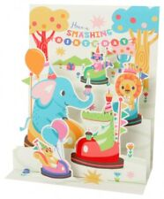 SOUND Pop Up 3D Karte Kinder Geburtstag Musik Karussell 18x13cm