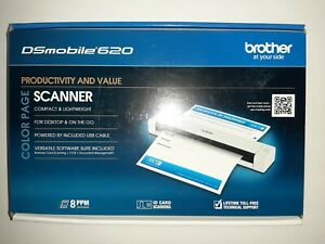Brother DSmobile 620 Portable Color Page Scanner. New.