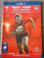 2003 WALES v IRELAND programme
