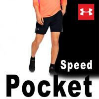 PREMIUM UNDER ARMOUR MEN'S UA SPEEDPOCKET 9'' LINERLESS SHORTS RUNNER BLACK 3XL