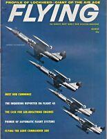 Flying Magazine Mar 1960 Lockheed F-104, TWA 707 Flight, Shell Oil back Cover ad