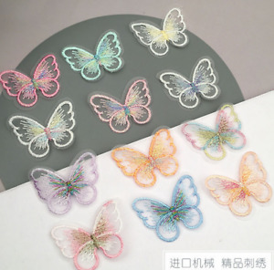 20X butterfly shape Embroidered Lace Applique decoration Clothing material