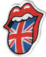Iron On/ Sew On Embroidered Patch Badge Lips Rolling Stones Union Jack