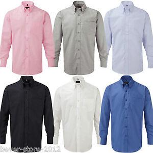 Herren Hemd Langarm Oxford Oberhemd Übergröße S M L XL XXL 3XL 4XL 5XL 6XL 37-54
