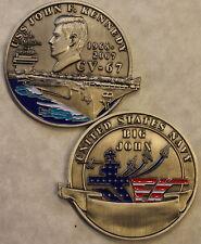 USS John F. Kennedy CV-67 1968-2007 Navy Challenge Coin JFK  CCC