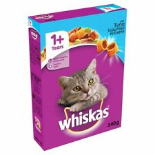 Whiskas 1+ Years Cat Complete Dry chicken Tasty Filled Pockets - 340g BOX kibble