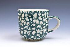 "Folk Craft Green Moose Country Short Tea Cup Mug Cup(s) 3.25"""