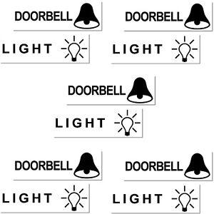 10 Aufkleber LIGHT DOORBELL Sticker bell door postbox letterbox mailbox Briefe