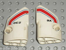 LEGO Technic White Panel Fairing 1 & 2 ref 87080 & 87086 + Sticker / set 8071