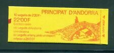 French Andorra 1988 22fr Booklet with counting mark