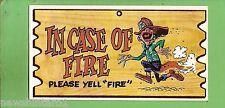 #D256. 1982 SCANLENS WACKY PLAK #72  IN  CASE  OF  FIRE