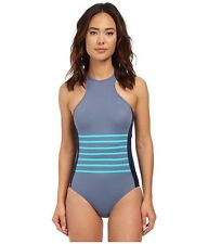 Dkny 3350 A Lister Racer Front Maillot Women's Swimsuits One Sz 14