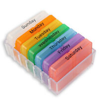 7 Tage Pillenbox Pillendose Tablettendose Tablettenbox Medikamentenbox Neu
