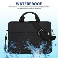 """13"""" 15.6""""Laptop Handbag Sleeve Case Bag Shockproof Waterproof Durable Black"""