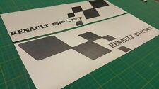 Renault clio megane 172 182 225 Sport side flags 450mm  decals stickers Graphics
