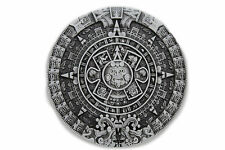 Men Women Casual Belt Buckle Silver Metal Western Fashion Aztec Calendar Mayan