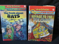 Magic School Bus Chapter Books: Bats and Volcano - Includes Shipping!!