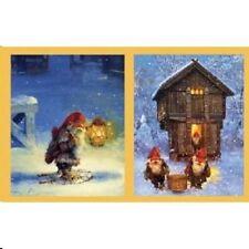 Svein Solem Norwegian Nisse Gift Enclosure Cards, NEW