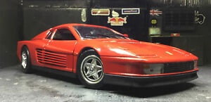 Ferrari Testarossa Red 1:18 Diecast Model Car Hot Wheels