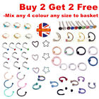 Nose Ring Eyebrow Cartilage Tragus Septum Helix Lip Earring Hoop Stud Ear Cuff <br/> Hot-Buy 2 Get 2 Free-(add 4)-*Best Quality-Non Allergic