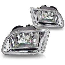 For 1999-2001 Honda Odyssey Clear Lens Chrome Housing Plastic Fog Lights Lamps