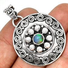 Bali - Ethiopian Opal 925 Sterling Silver Pendant Jewelry PP190887