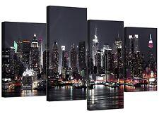 TELA immagini di New York Skyline per il vostro salotto - 4 PANEL Cityscape