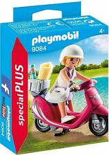 PLAYMOBIL 9084 Special Plus Mujer con Scooter, Chica en Moto, Mujer, Girl NUEVO