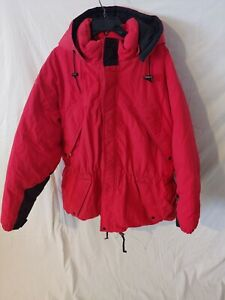 Snow ski snowboard winter red down puffer jacket mens womens unisex - XXL Used