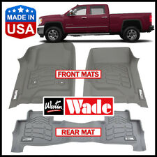 Westin Wade Sure-Fit Custom Molded 2015-2018 GMC Sierra Crew Cab Floor Mats GRAY