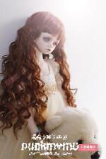 BJD Doll Hair Wig 9-10 inch 22-24cm 1/3 SD DZ DOD LUTS dark brown wave hair