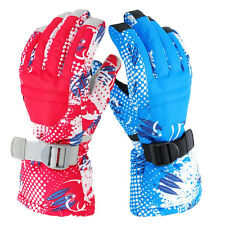 Mens Women Winter Warm Sports Waterproof  Motorcycle Snowboard Ski Gloves M/L