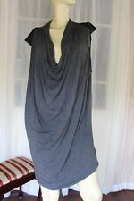 SIZE 24 LILLY AND LOU GREY BLACK CONTRAST COWL NECK STRETCH DRESS🍾POST 5 FREE