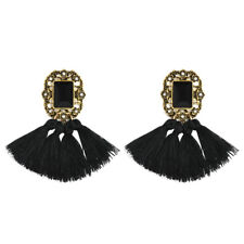 1 Pair Elegant Women Jewelry Rhinestone Ear Stud Crystal Tassel Earrings