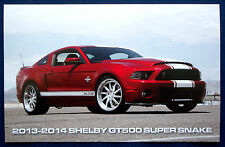 Prospekt brochure Datenkarte 2013-14 Ford Shelby Mustang GT500 Super Snake (USA)