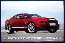Prospekt brochure Datenkarte 2013-14 Ford Shelby Mustang GT500 Super Snake (USA)