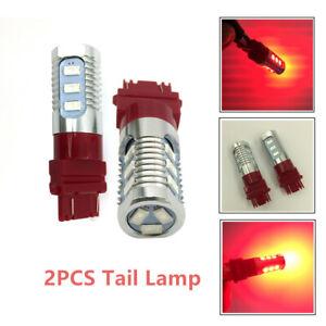 2X Brake Flash Strobe Light Rear 12-LED Bulb Tail Reverse Lamp Aluminum alloy