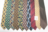 LOT OF 10 LITTLE SQUARES GEOMETRIC silk ties.