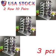 3X Cool Eyeglasses Sunglasses Glasses Display Stand Holder Rack 2row 10 Pairs BP
