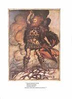 Antique print.Arthur Rackham print.Opera print.Print 1939.Wagner.Hammer.Beard
